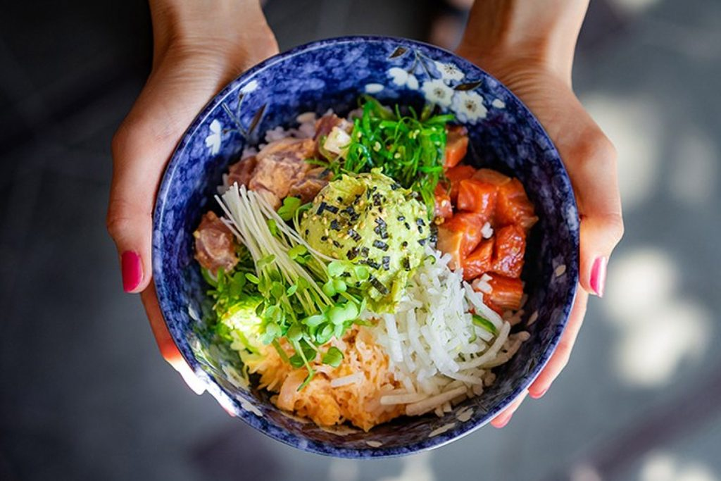 The way to order a bowl at Pacific Poke is pretty simple.